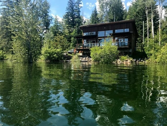 Lorna's Lakehouse, right on the water