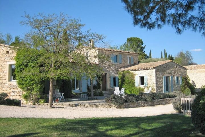 Stylish house located with private pool and panoramic view of the village of Gordes