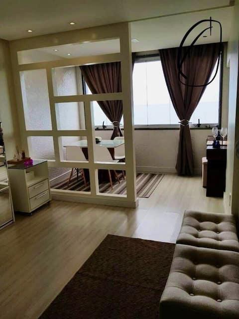 Apartamento Conforto Frente ao Mar na Areia Preta