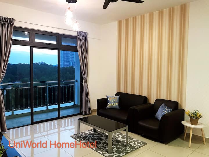 Gorgeous Design Spacious 2 BR 1-6 pax AeonDatoOnn