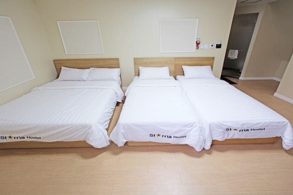 Fitted with wooden flooring, air-conditioned rooms feature a desk, a flat-screen TV, fridge and heating facility. Each room comes with a private bathroom that includes hairdryer and shower.  Rooms offer 1 double bed and 2 single beds.