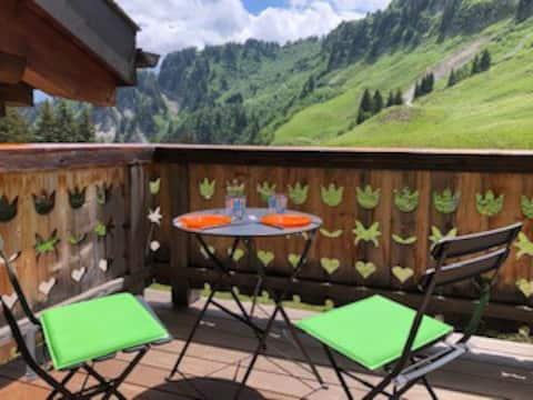 Penthouse alpinchic 120m2 - Crosets - Nature pure