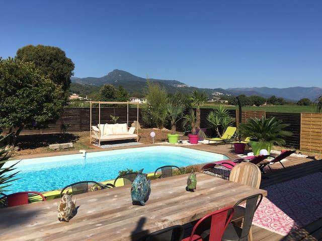 Villa idéalement située piscine et proche plage - Penta-di-Casinca