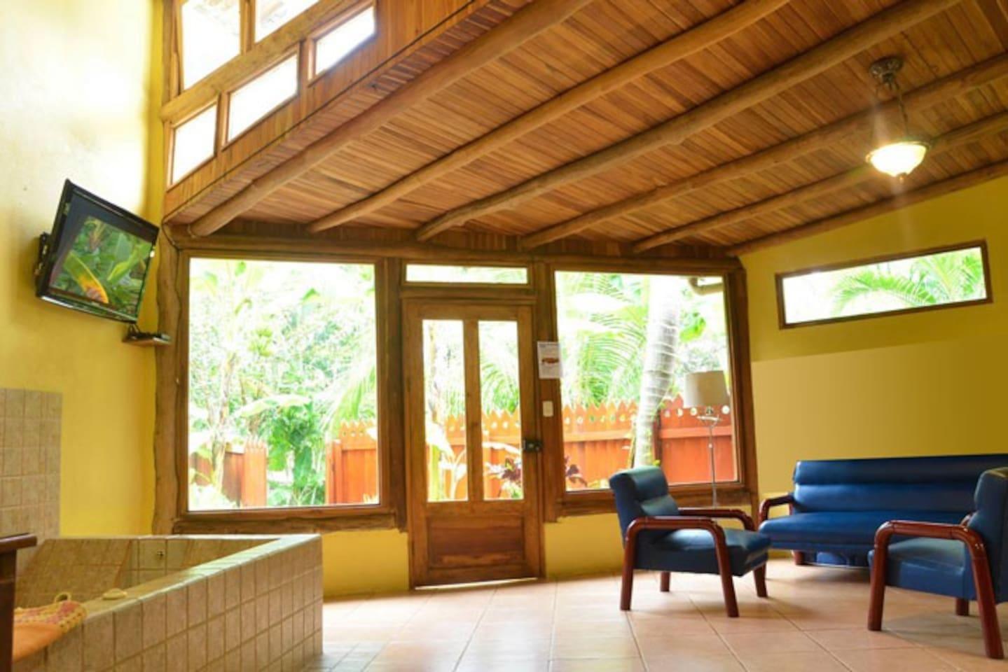 The Blue Villa Open Area Living Room