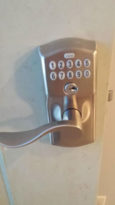 A Key-less entry has been installed so no keys are needed.