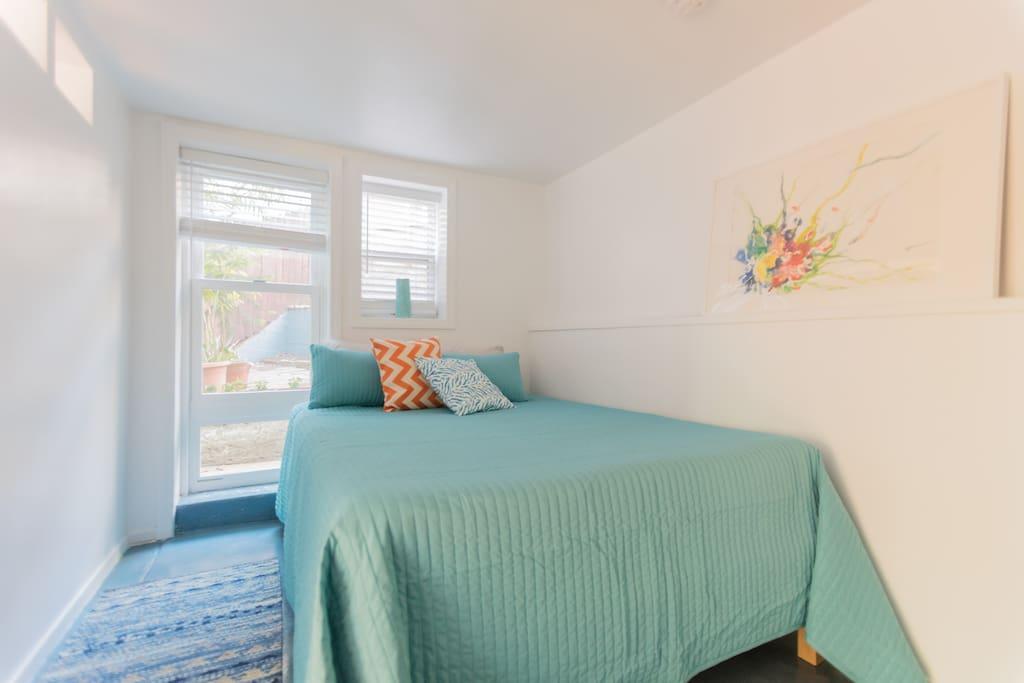 A comfortable serene foam bed.