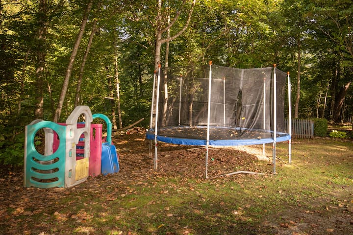 Playset and Trampoline (with net) for kids and adults.