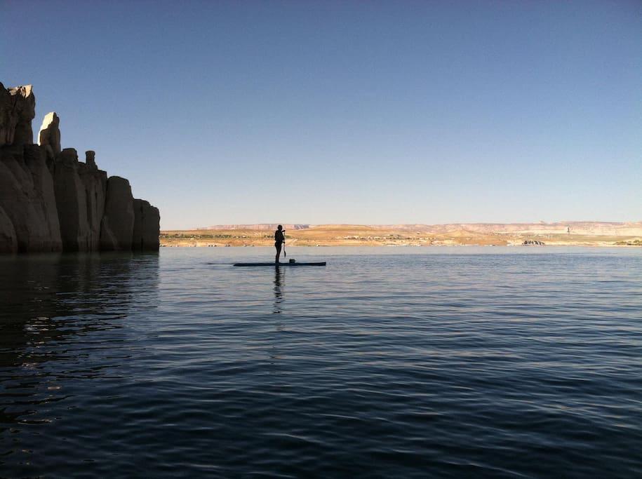 Paddle boarding Lone Rock!