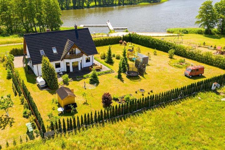 Polen Ostsee, Seeblick, Ferienhaus am See, Wolin, Kolczewo,