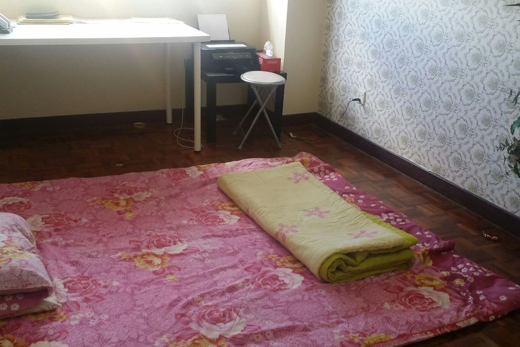 Floor bed for 2 or 3 persons