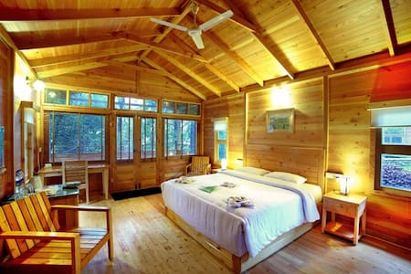 Wooden Chalets at Misty Mountain Plantation Resort - Kuttikkanam