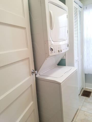 Laundry washer & dryer (free of charge) is located in the second bathroom