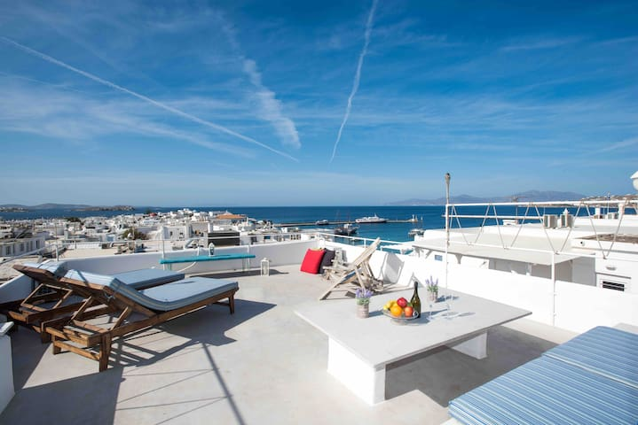 New Mykonos Town Panorama with Private Terrace