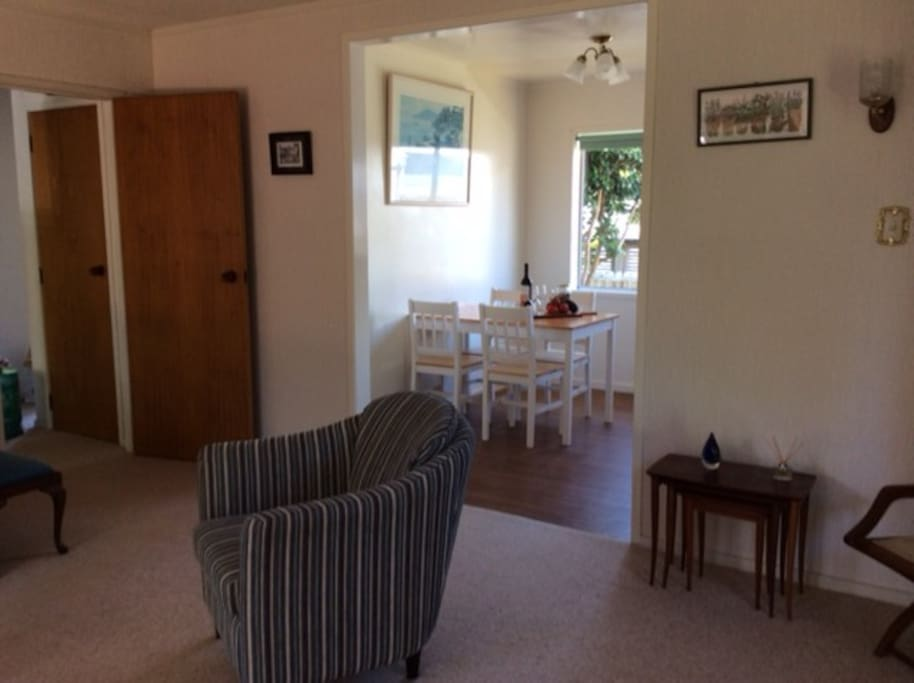 Lounge semi open plan with kitchen diner.