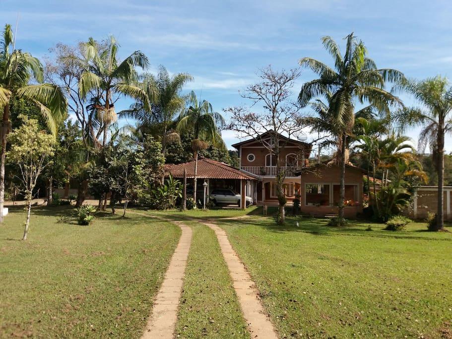 A frente da casa