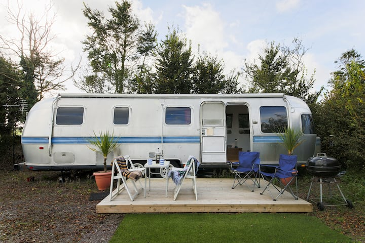 Airstream at Dinham Farm Campsite, near Polzeath.
