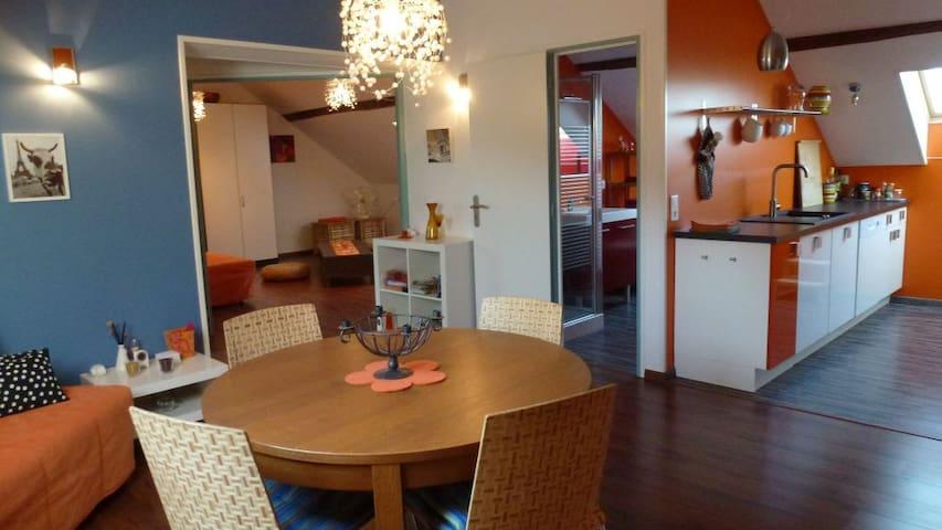 Moderne und helle Ferienwohnung - La Chapelle-Thècle - Apartmen