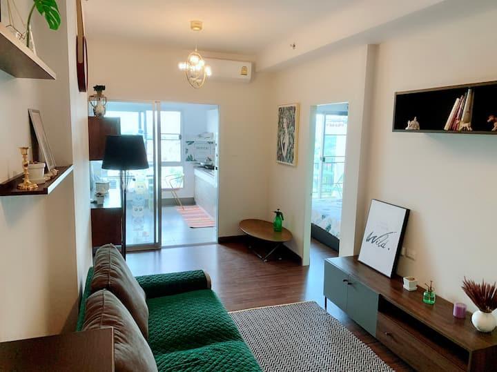 紧邻central festival 商圈,小情调范儿的舒适公寓