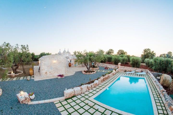 TRULLO ANTICO proprietà privata con piscina e wifi