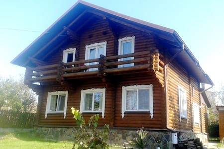 Сдам Эко Сруб с баней и камином 15км от Киева - Horbovychi - บ้าน