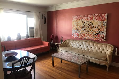 Colorful Oasis in Astoria home w/ Private Parking