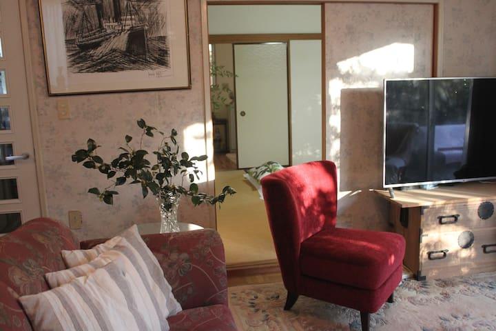 超值!宽敞舒适带花园的卧室 有天然温泉的住宿