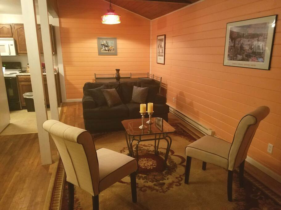 View of living space/ dining area
