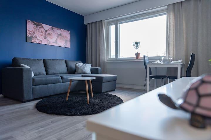 2020 renovated studio apartment in Joensuu centre