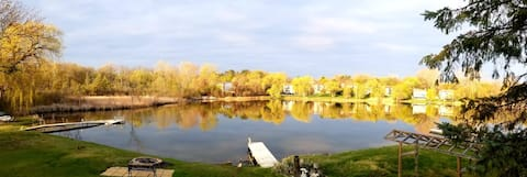 Lake, calm place to enjoy meditation and nature