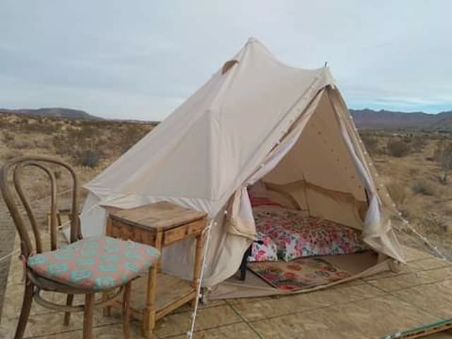 Sunset yurt camp