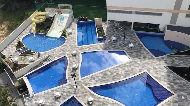 Apt 709 Hotel Park Veredas c/ acesso ao Rio Quente