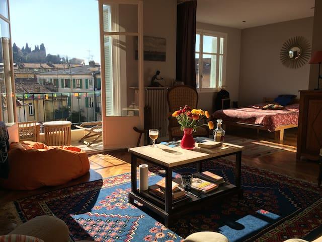Sunny Views with Quiet Terrace. - Niza - Apartamento