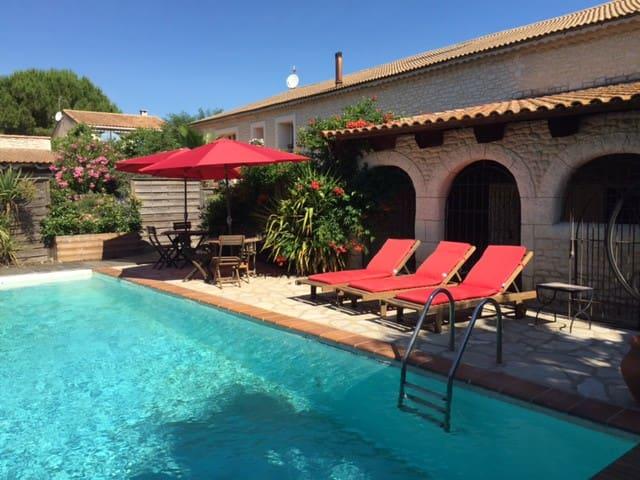 duplex,cadre relax, spa(l'été), proche Montpellier