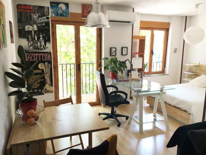Cálido apartamento tipo loft