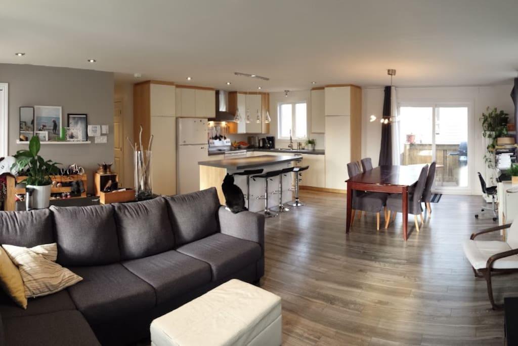 rez de chauss e d 39 une maison grande aire ouverte maisons louer ville de qu bec qu bec. Black Bedroom Furniture Sets. Home Design Ideas