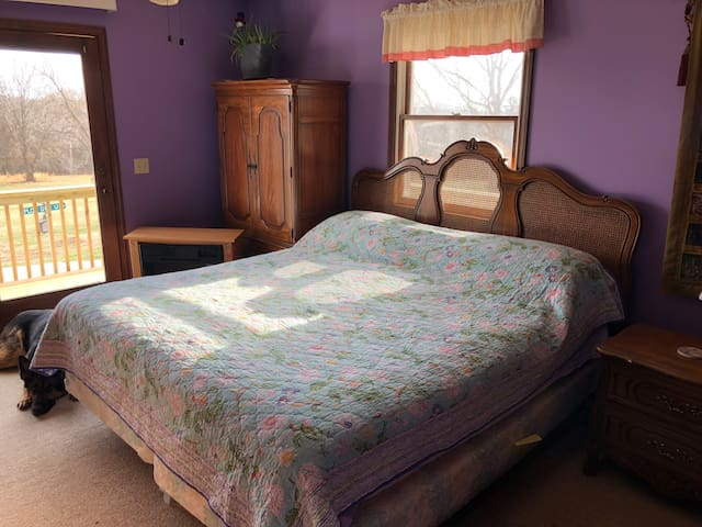 Master bedroom - king with bathroom and deck access