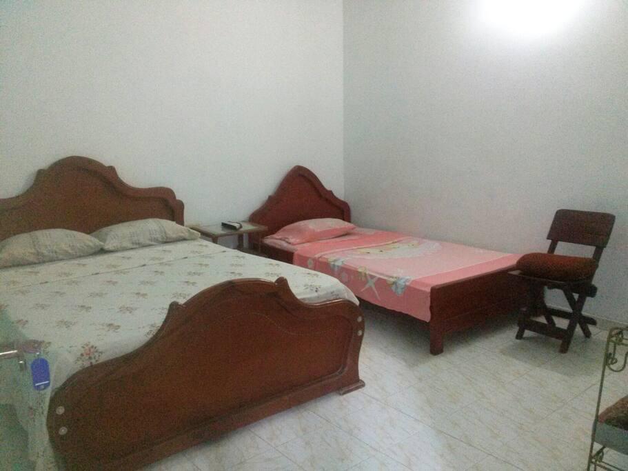 Habitaciones para parejas solas o con niños
