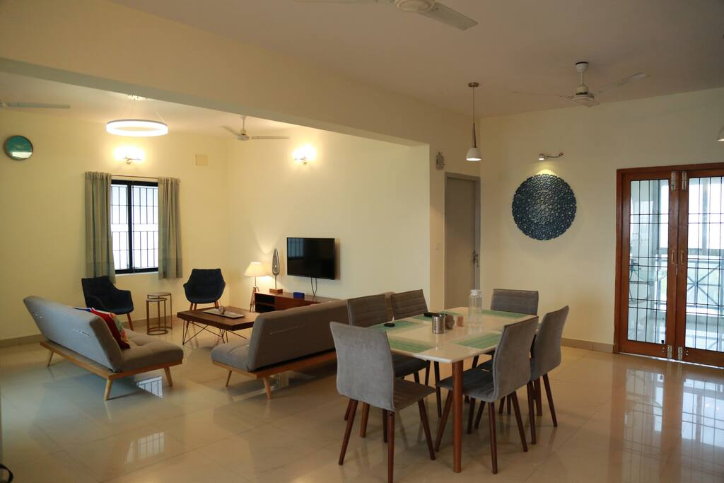 View of living cum dining space