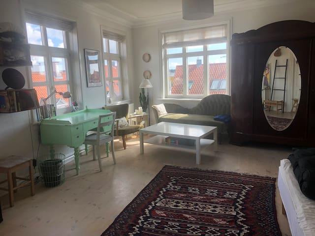 Svendborg centrum, stort og lyst værelse