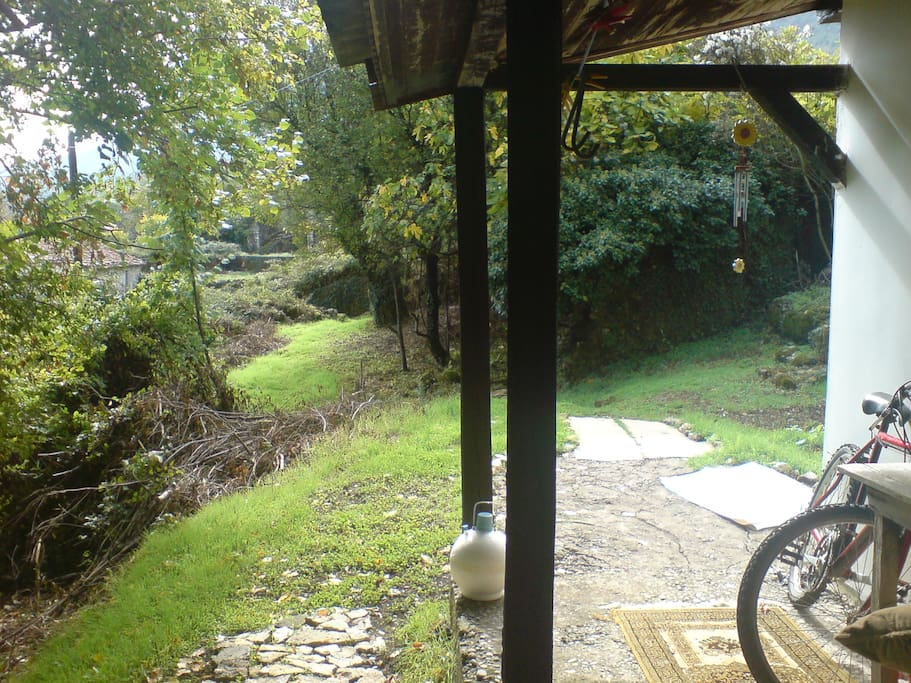 view from the terrace, rural cottage