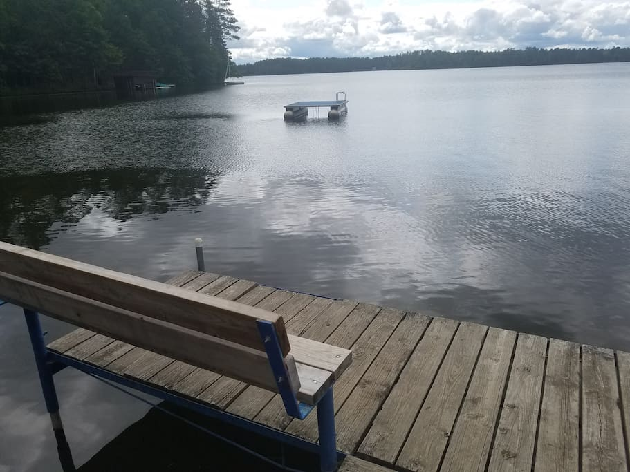 Community dock on Mercer Lake