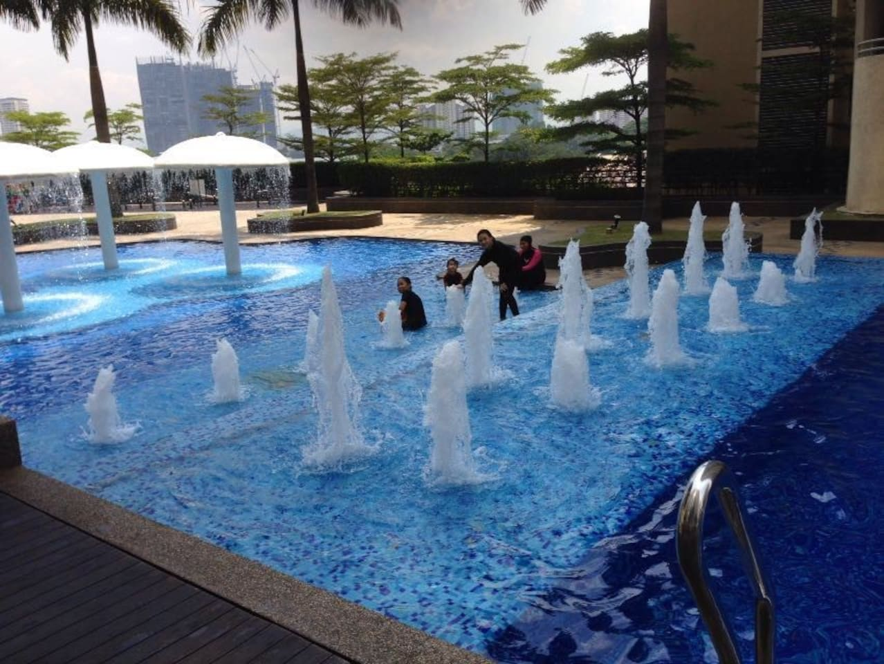 Big Swimming Pool with exercise, playground and Gym studio.