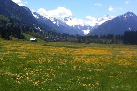 direkt in Oberstdorf wandern  vom 🏠 weg