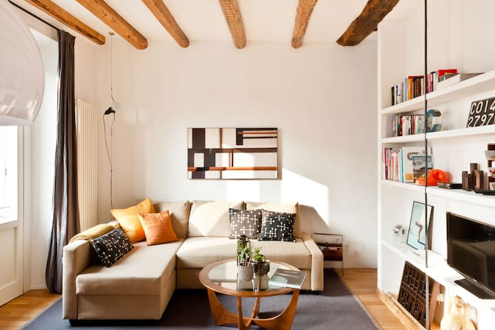 Bright, Modern Home in an 18th-Century Building