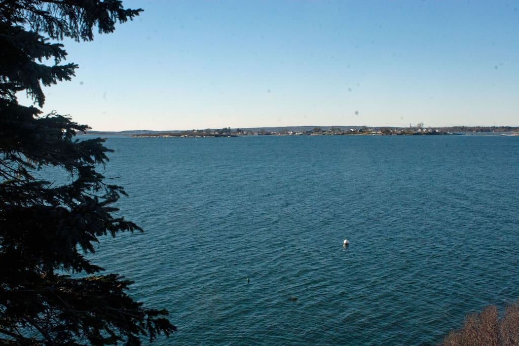 View of Harpswell Sound from the balcony