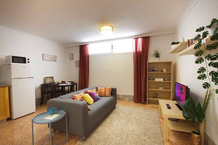 One bedroom apartment semi basement A