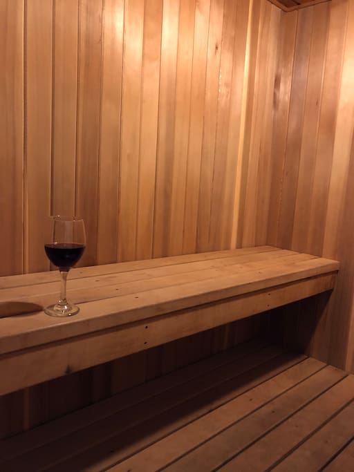 The chalet has a Sauna for extreme relaxation :) You can add water for steam as well.
