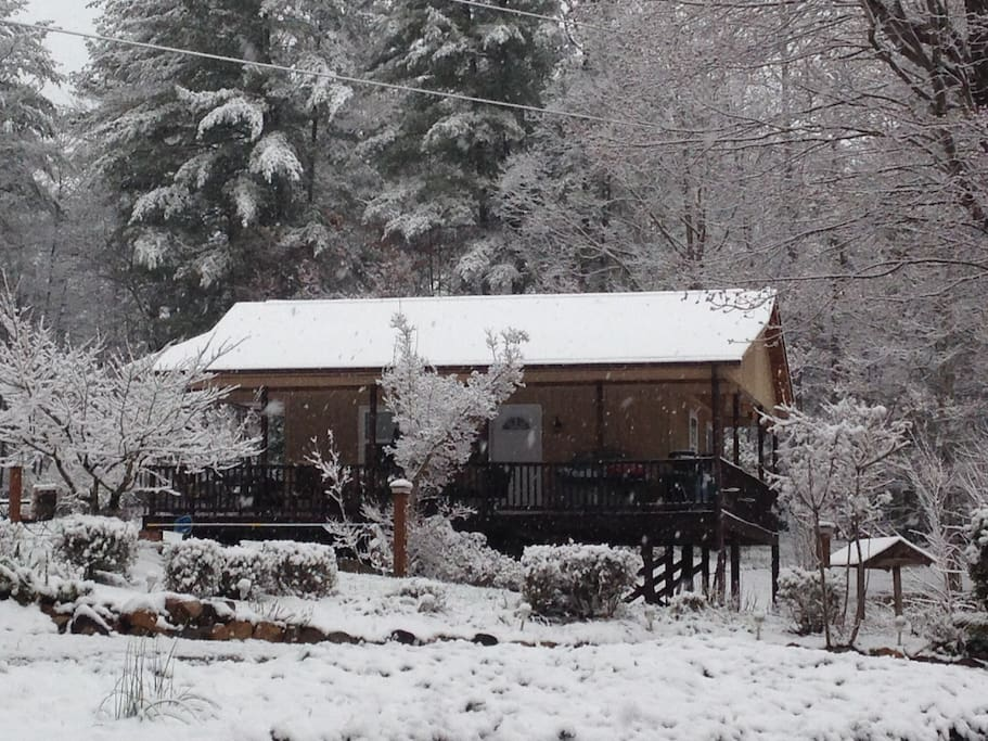 Snuggle in our cozy cabin!
