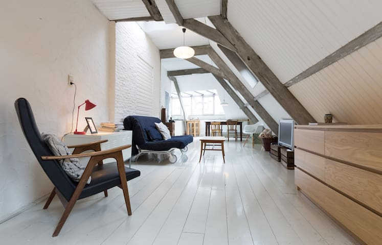 Unique city loft with amazing view! - Antwerpen - Huoneisto