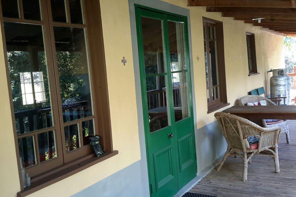 Front verandah, freshly repainted